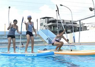 口湖國中水域教育 立槳、獨木舟清涼一夏