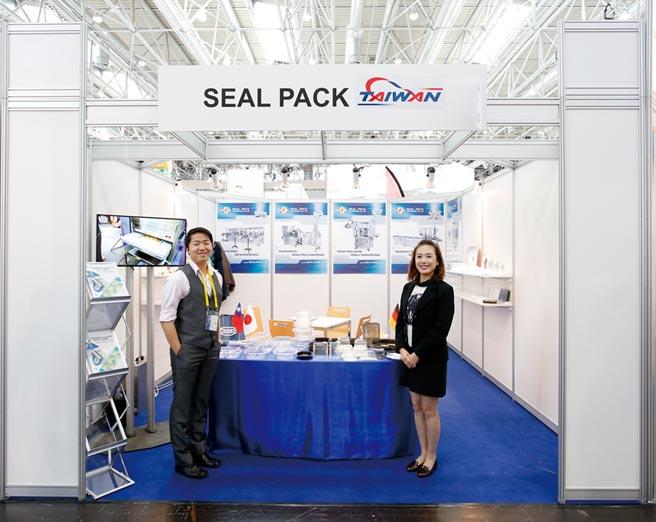 自動充填暨封口包裝機械供應商-捷輝9成外銷為主,每年皆到歐美各地展覽,尋求拓展海外市場機會。圖/業者提供