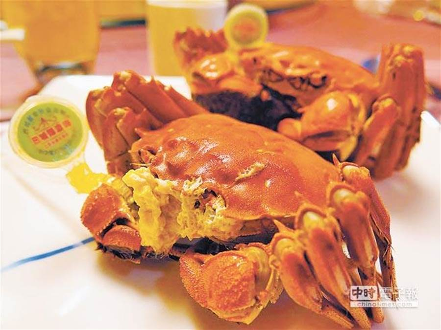 大閘蟹一直是大陸饕客最愛的美食之一。(本報系資料照片)
