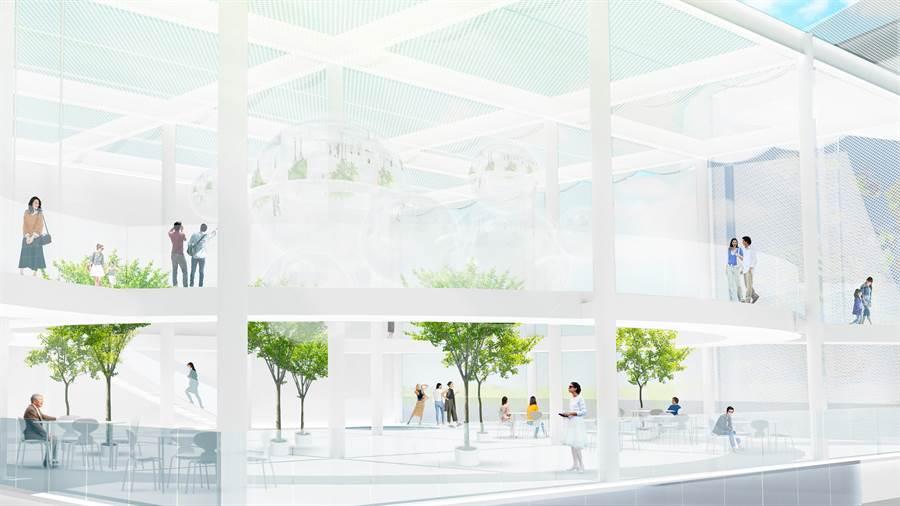 台中綠美圖將塑造公園中的圖書館、森林中的美術館,讓藝文建築融入大自然。(示意圖/台中市府提供)