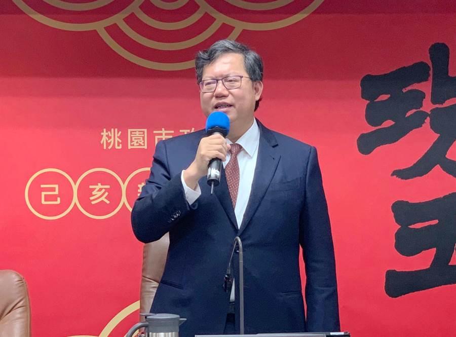 桃園市長鄭文燦表示,對於教育、人事及福利的預算不會改變。(甘嘉雯攝)