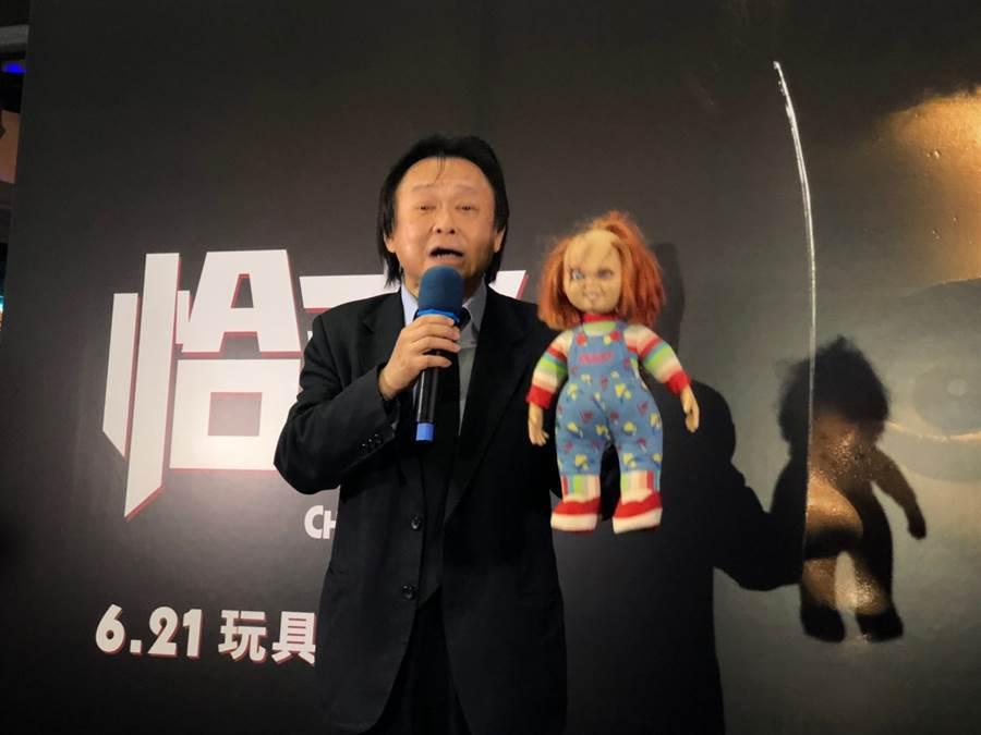 王世堅今日受邀出席《恰吉》電影首映會,坦言心情百味雜陳。(廖映翔攝)