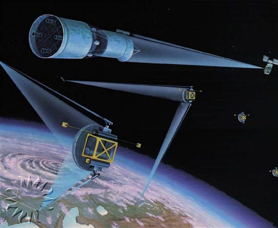 根據美國最新的導彈防禦評估,五角大廈已開始籌劃開發太空雷射武器。(圖/Space Race)