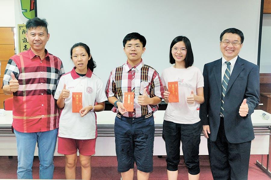 北港高中與地方人士共同提供優渥獎學金,吸引國中會考成績5A學生就讀。(張朝欣攝)