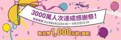 樂桃歡慶搭乘人次3千萬 飛日全航線只要1千