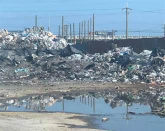 回收場狂燒過後 半焚毀廢棄物堆積如垃圾山