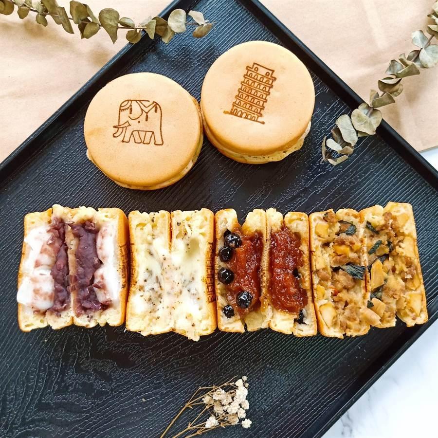有好市集「背背客食」車輪餅,將異國美食與傳統小點車輪餅結合。(好好集提供)