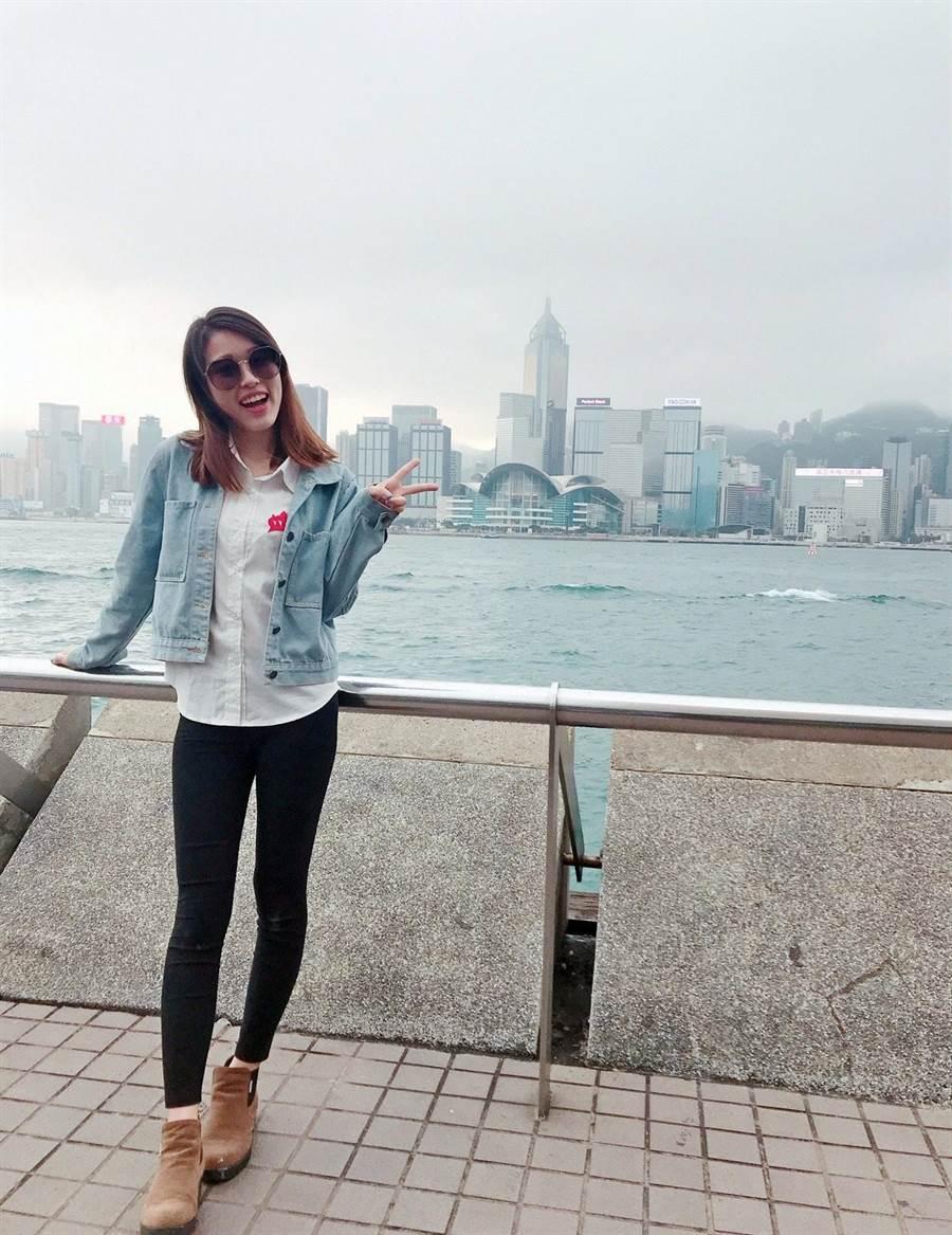 喜歡打排球和旅行的賴妍憓,也有她好動的一面。(賴妍憓提供)