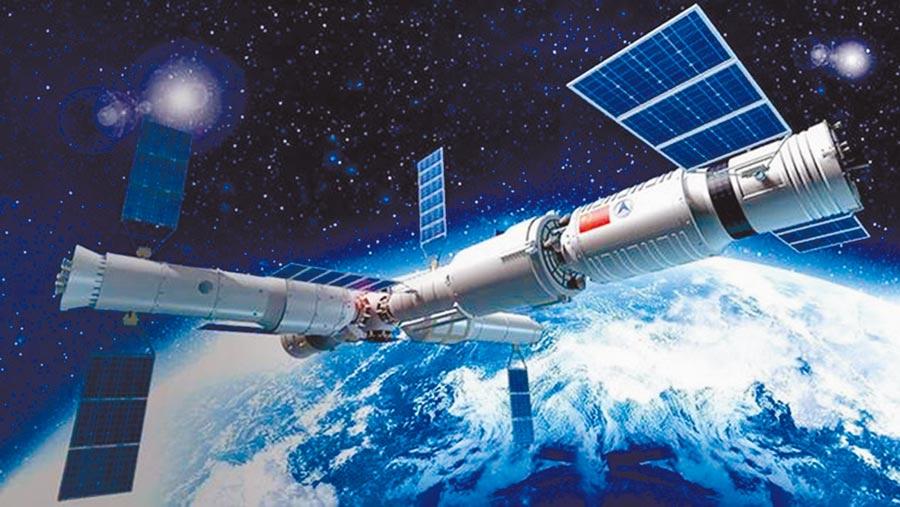 中國空間站想像圖。