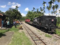 百年蒸汽阿里山小火車從竹崎回娘家維修