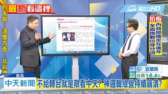 東京電視台歪曲 中天提告