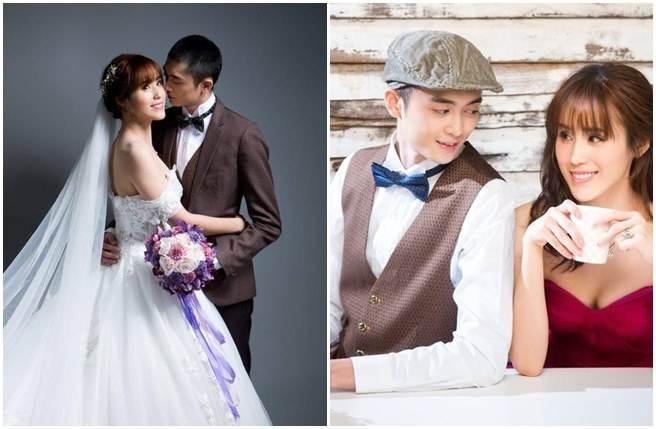 孫翠鳳女兒陳昭賢超正婚紗照。(取自孫翠鳳臉書)