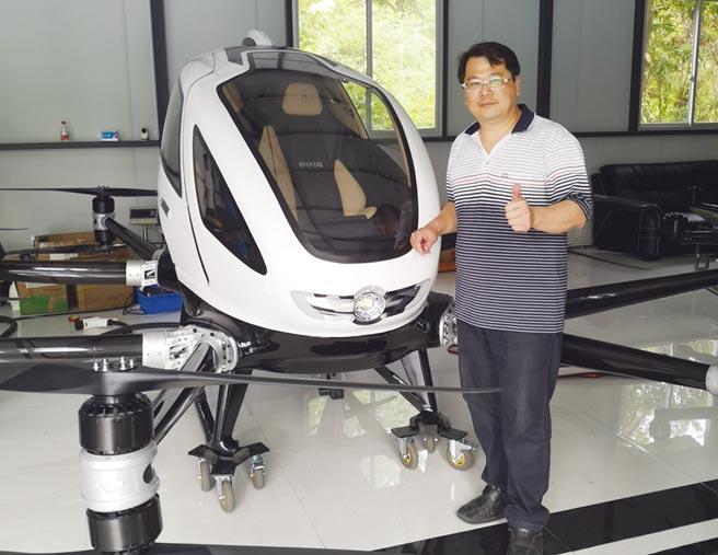 黃文啟對載人無人機未來寬廣商機深具信心。圖/氫淼科技提供