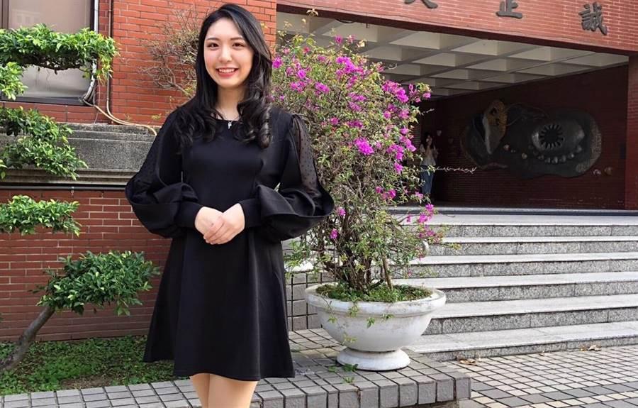 大二的唐愷翎接任3月台南大學親善大使團團長一職。(程炳璋攝)
