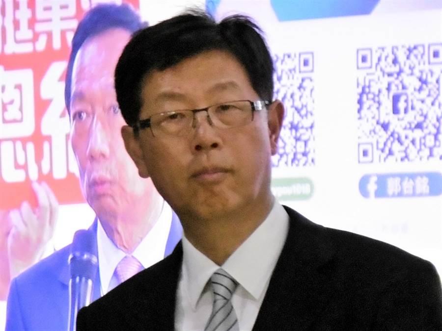 鴻海新任董事長劉揚偉。(林資傑攝)