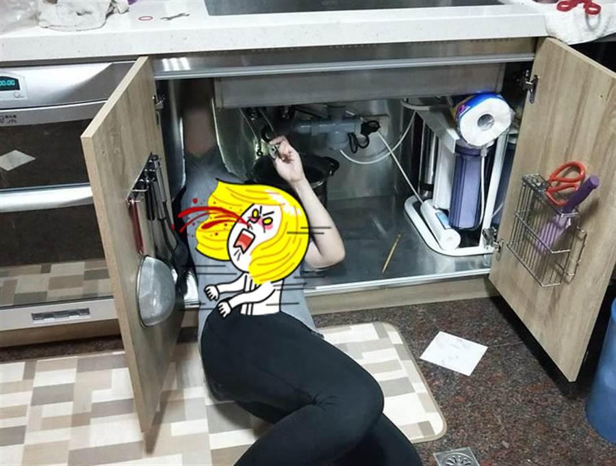 水电工老婆超威! 凶恶视角超母汤(图片取自/爆废公社)