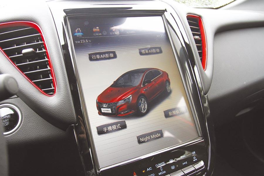 12吋超大多功能HD觸控螢幕取代舊車型的實體按鍵設計。圖/陳慶琪