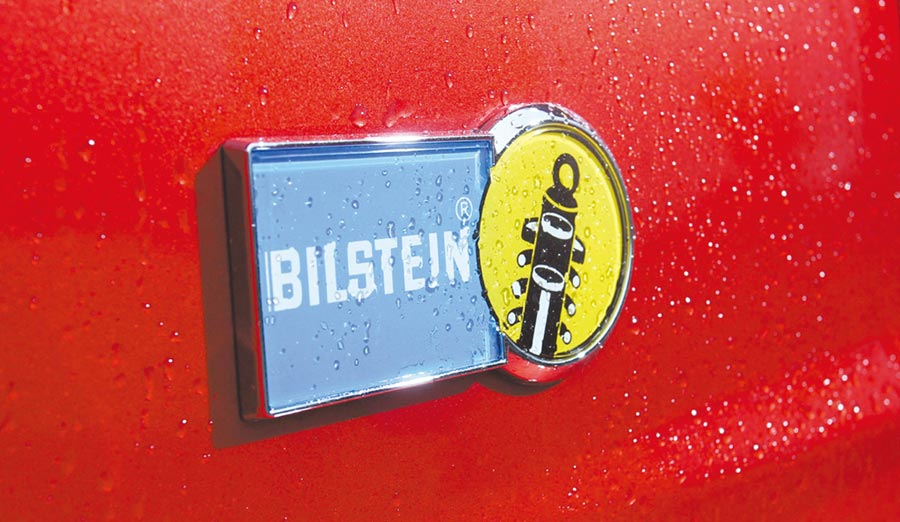 配備來自德國的Bilstein高性能單筒倒插式避震器。圖/陳慶琪