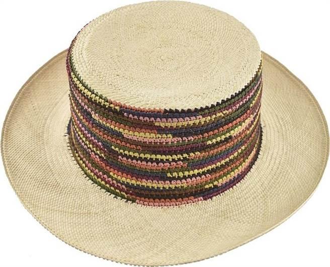 微風南山Ecua-Andino Hats平頂混織撞色草帽(3色),3390元。(微風提供)