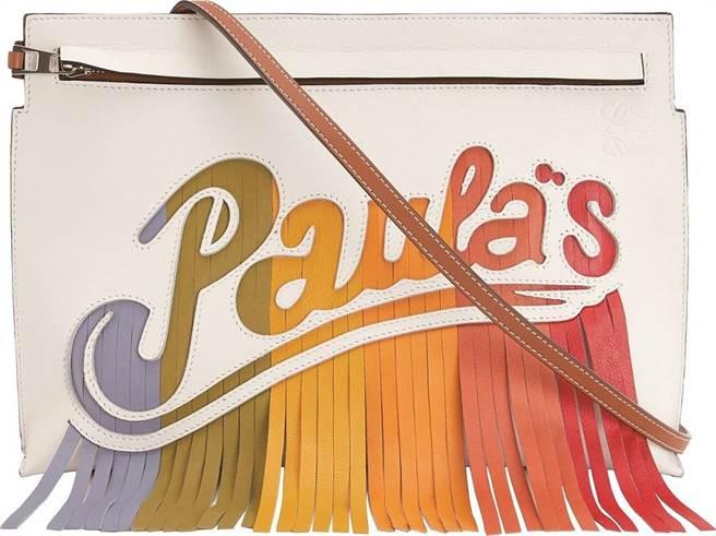 微風信義LOEWE Paula's Vertical小牛皮彩虹流蘇提包,5萬6000元。(微風提供)