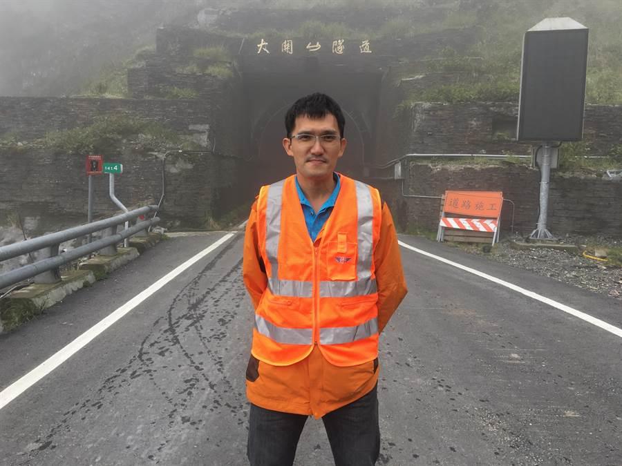 公路總局第三區養護工程處甲仙工務段段長陳正偉。(陳祐誠攝)