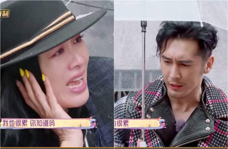 鍾麗緹和張倫碩在節目中大吵。(圖/取材自我最愛的女人們微博)