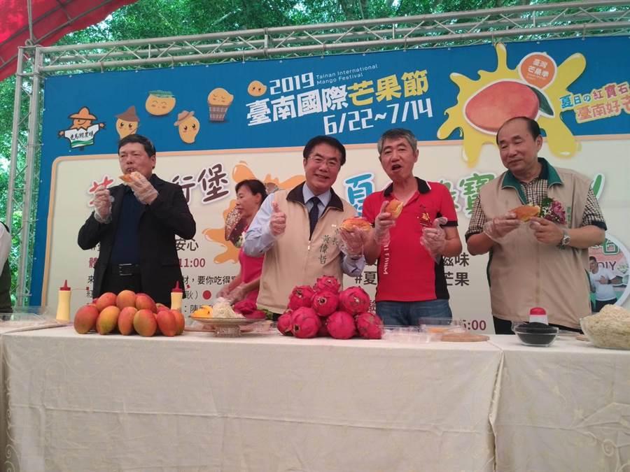 芒果盛產價跌,台南市農業局宣布多管齊下行銷芒果,穩定芒果價格,包括到各地舉辦芒果行銷活動。(台南市農業局提供)