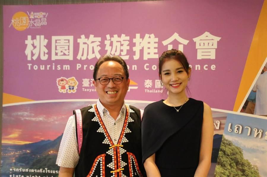 桃園市政府觀光旅遊局到泰國推廣觀光活動。(甘嘉雯翻攝)