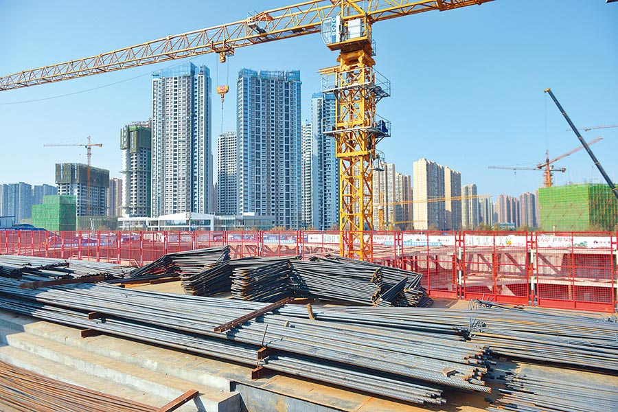 成都一在建房產項目。(中新社資料照片)