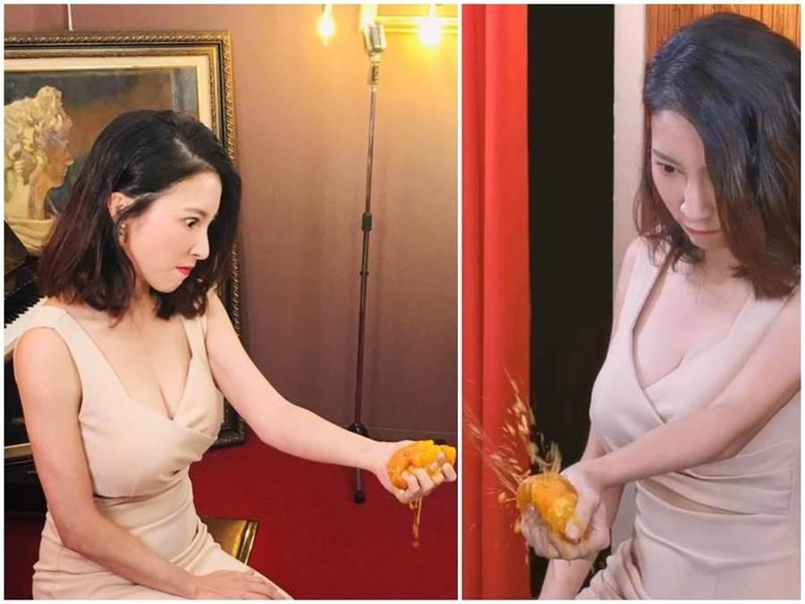 張家瑋爆橘畫面逗趣,大露「胸器」十分養眼。維他露黃金激素提供