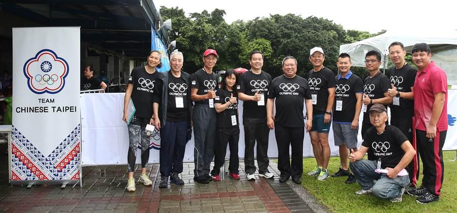 前奧運國手們「回娘家」,參加中華奧會舉辦的國際奧林匹克日活動。(中華奧會提供)