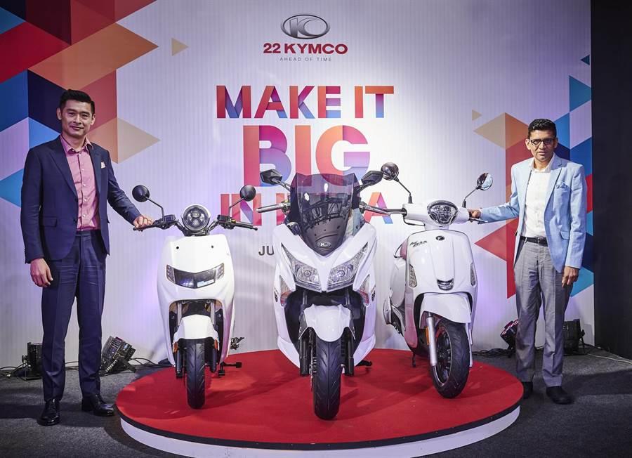 光陽宣布和印度新創公司22Motors推出「22KYMCO」電動機車品牌。(光陽KYMCO提供)
