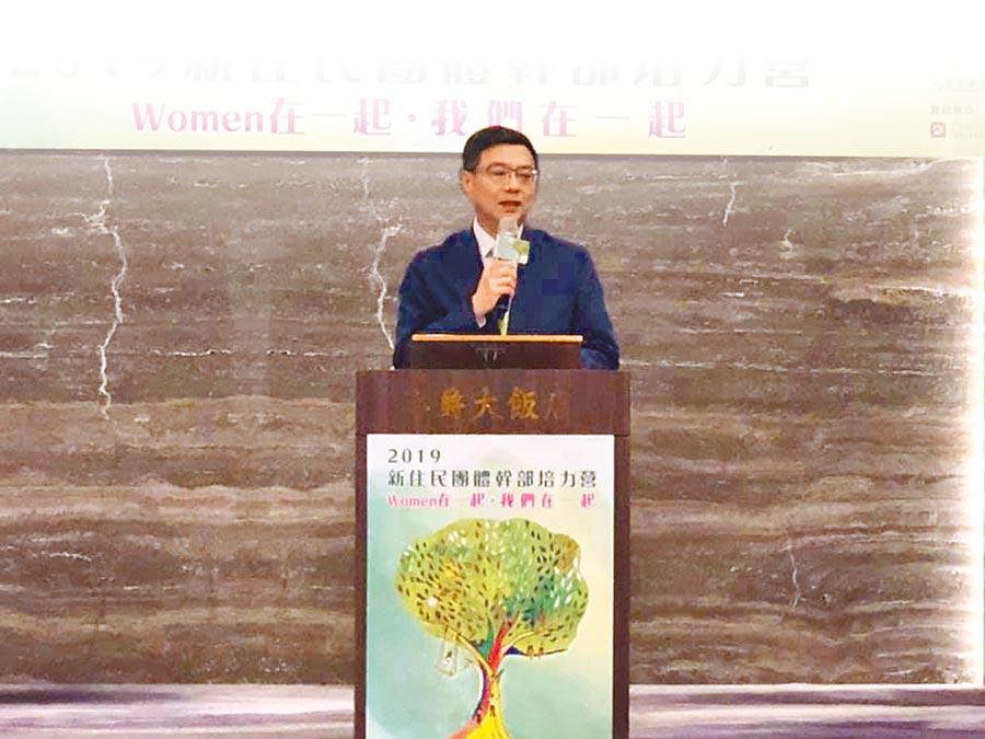 民進黨主席卓榮泰,特別前往桃園出席「民主新助力,Women在一起」培力營。(呂筱蟬攝)