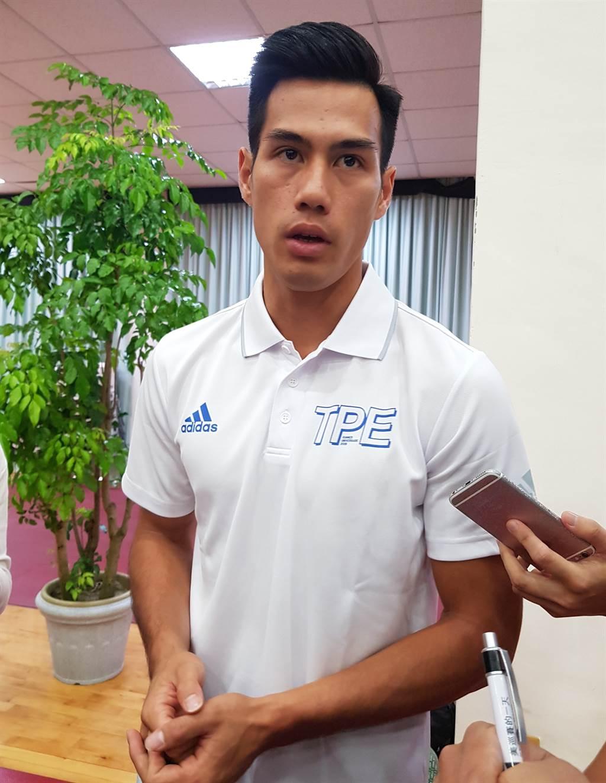 短跑好手楊俊瀚是本屆世大運備受期待的選手之一。(陳筱琳攝)