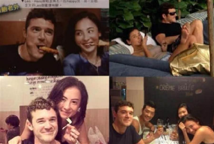 英國高帥工程師LEO曾多次和張柏芝拍照,甚至被媒體拍到兩人親密互動出遊,甚至張柏芝也沒否認兩人交往。(圖/翻攝自微博)