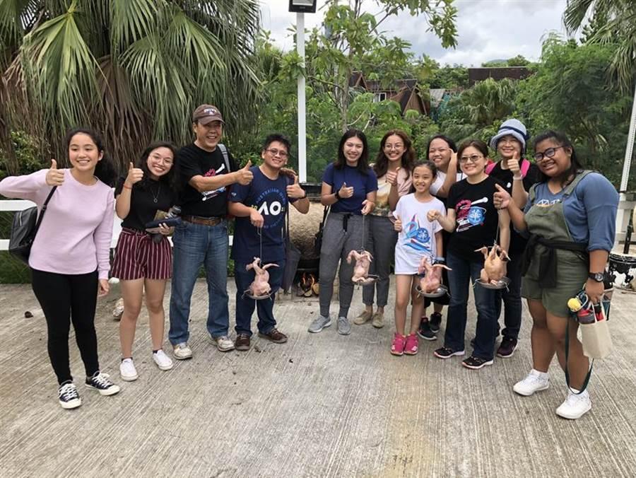 小墾丁渡假村天文生態課程,吸引菲律賓高中生參與。圖:小墾丁渡假村提供