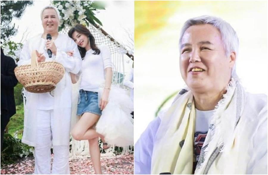 林瑞陽和張庭日前一起現身,被調侃像老婆的奶奶。(圖/翻攝自微博)