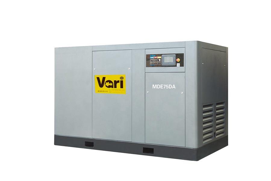 義騰公司「雙驅磁懸浮變頻空壓機」,滿足客戶大出氣量需求。圖╱義騰公司提供