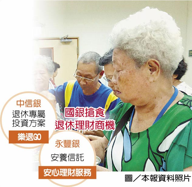 國銀搶食退休理財商機  圖/本報資料照片