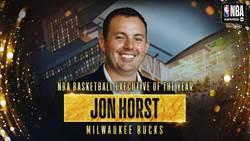 NBA》公鹿霍斯特摘下年度最佳經理獎