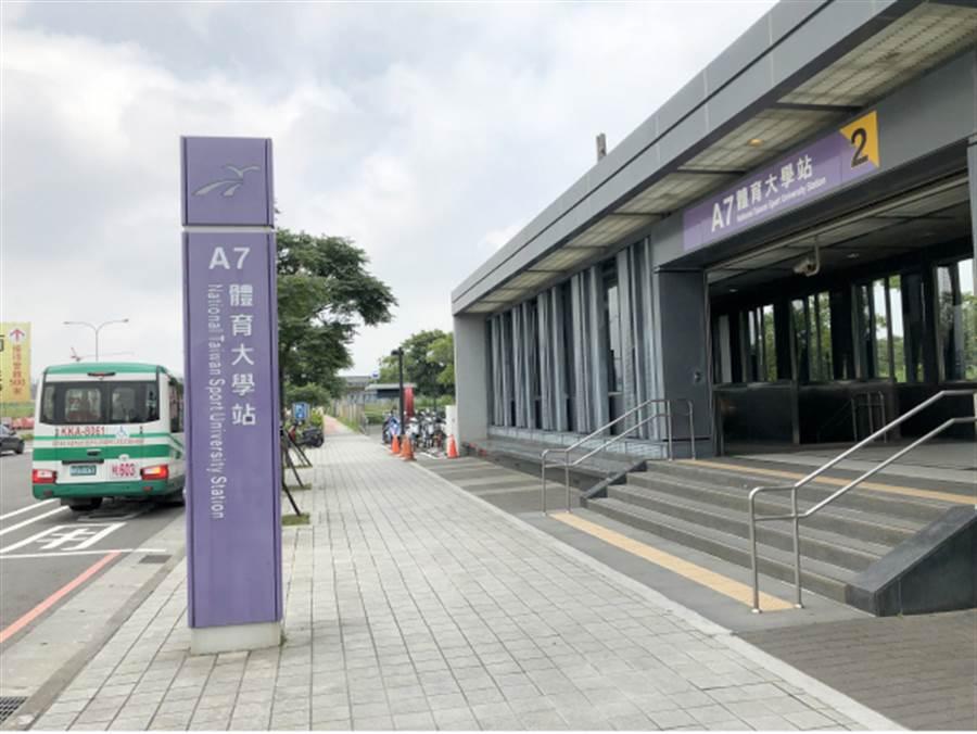 ▲機捷A7體育大學站。