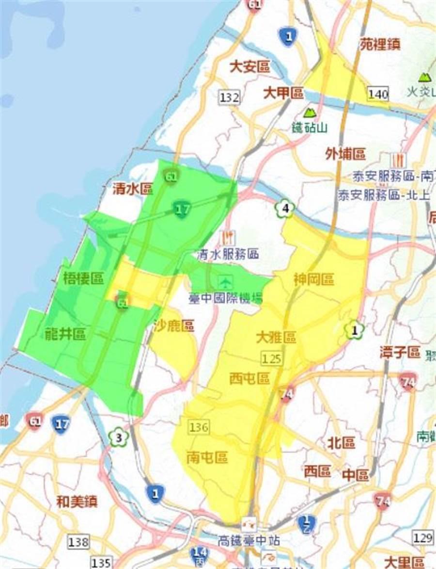 受管線設備漏水,台中市部分地區將於25日下午2點開始停水23小時。(翻攝照片)