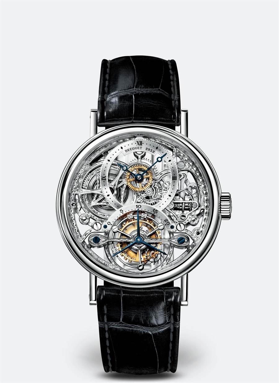 寶璣Classique Grande Complication經典複雜系列鏤空陀飛輪腕表,494萬6000元。(Breguet提供)