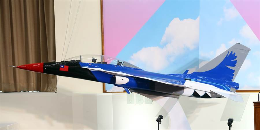 藍鵲教練機將會在明年露面。(圖/陳信翰攝)