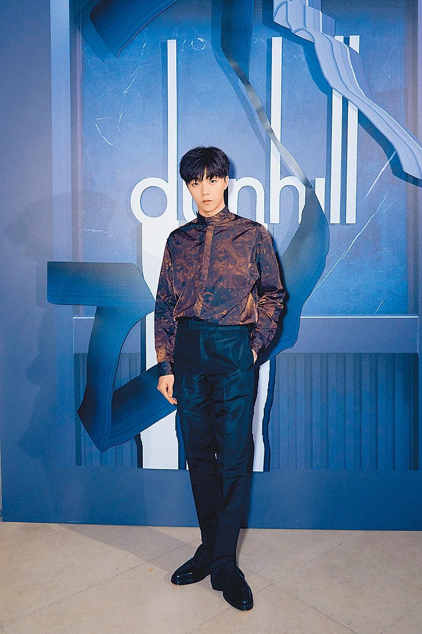 歌手陳立農出席dunhill發表會,大秀時尚風範。(dunhill提供)