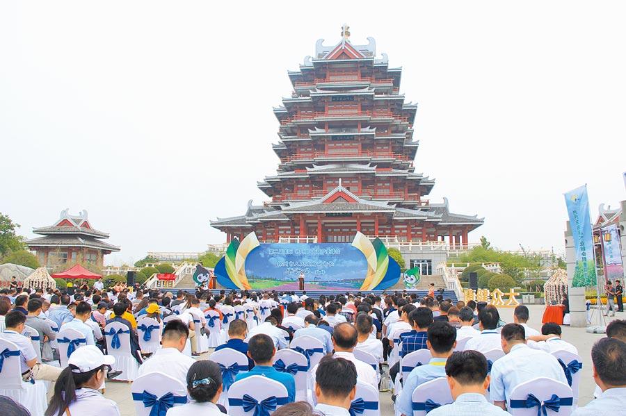 第二屆國際(邳州)大蒜產業峰會在江蘇邳州開幕。