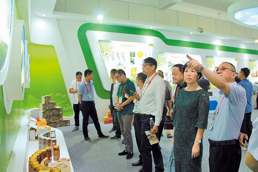 與會嘉賓參觀考察,詳細瞭解邳州在大蒜、銀杏等特色產業發展方面的經驗和做法。