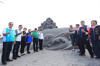 大安沙雕季629登場 12公尺超大鯨魚搶先亮相