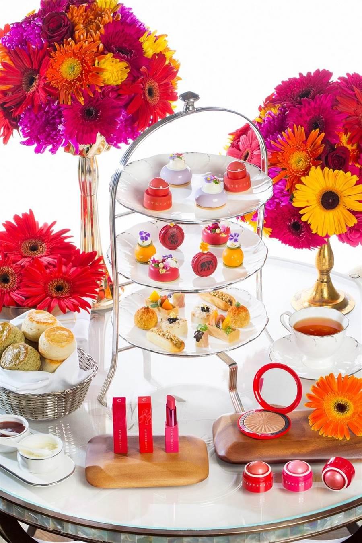 頂級保養香緹卡攜手文華東方 推聯名午茶做公益。(香緹卡提供)