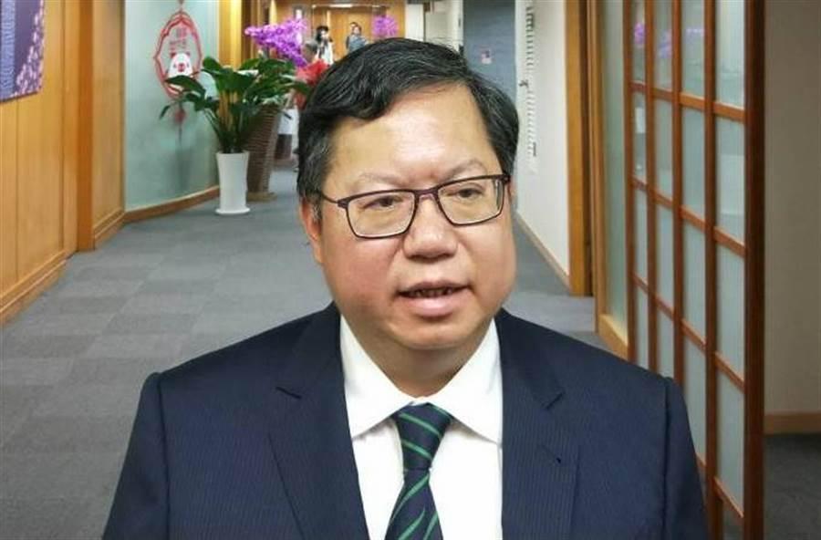 桃園市長鄭文燦認為,勞資雙方協商才能共贏。(甘嘉雯攝)